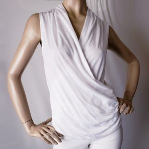 Guess Los Angeles White Front Wrap Top